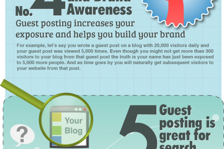 Guest Blogging: 8 Ways to Boost Brand Awareness & Discover New Trend Infographic