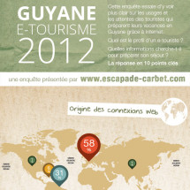 Guyane : enqute e-tourisme 2012 Infographic