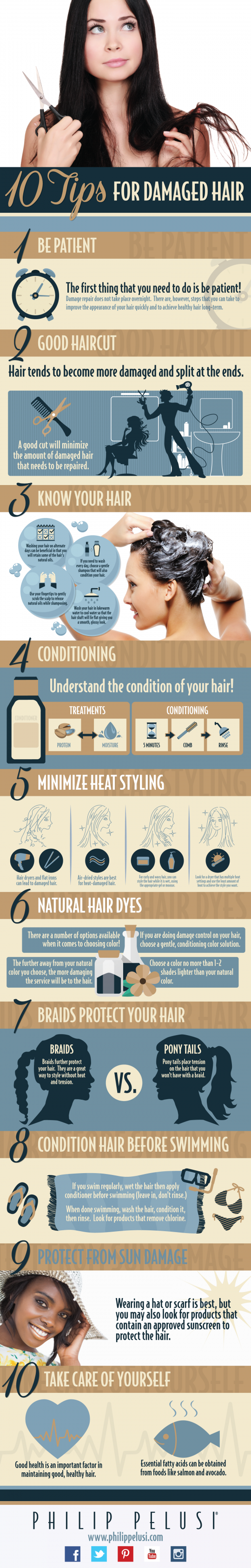 10 Tips for Damaged Hair