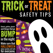 Halloween & Trick-or-Treat Safety Tips Infographic