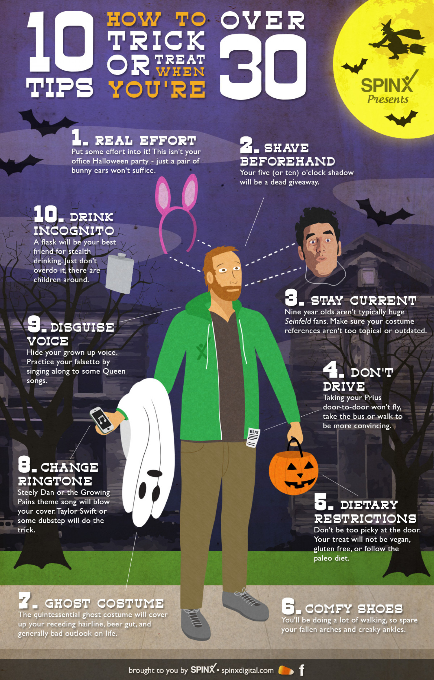 Halloween Costume Tips: How To Trick or Treat When You're Over 30 Infographic