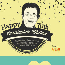 Happy 70th birthday Christopher Walken  Infographic