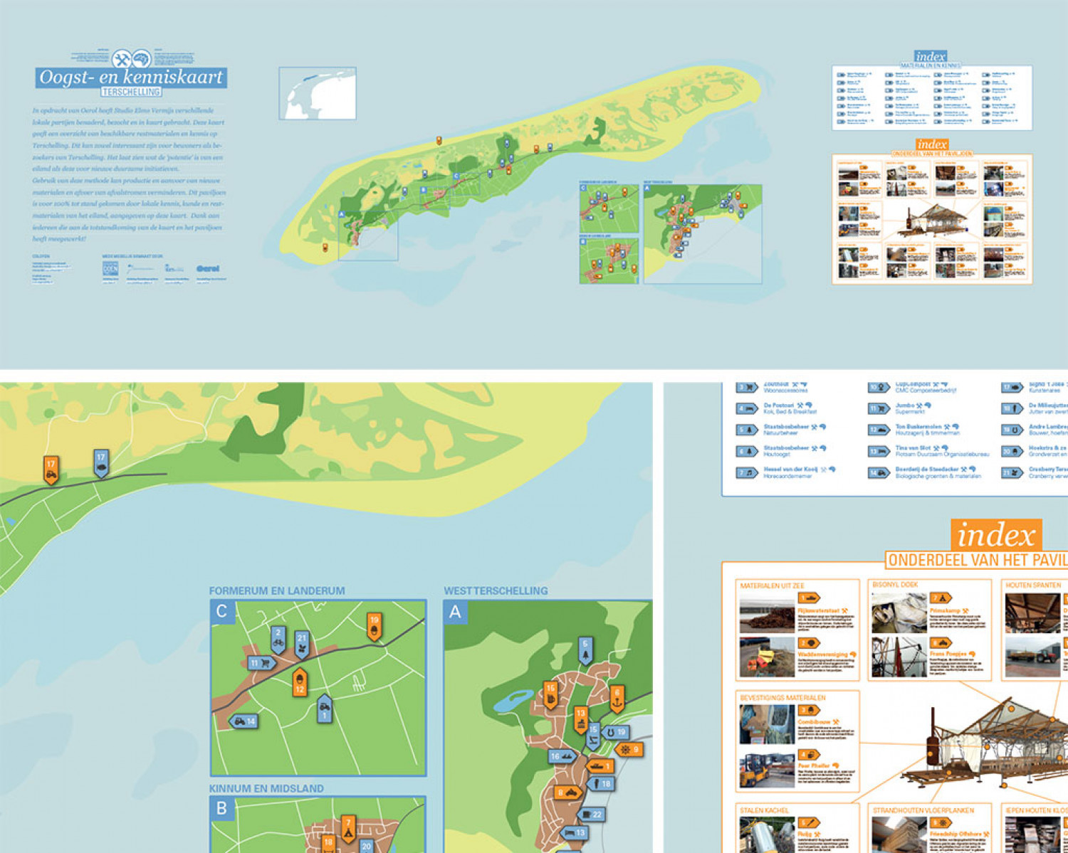 Harvest map Terschelling Infographic