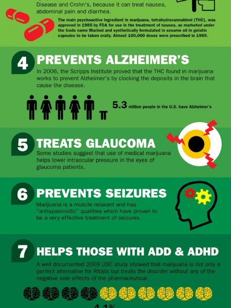 Health Benefits of Marijuana Infographic