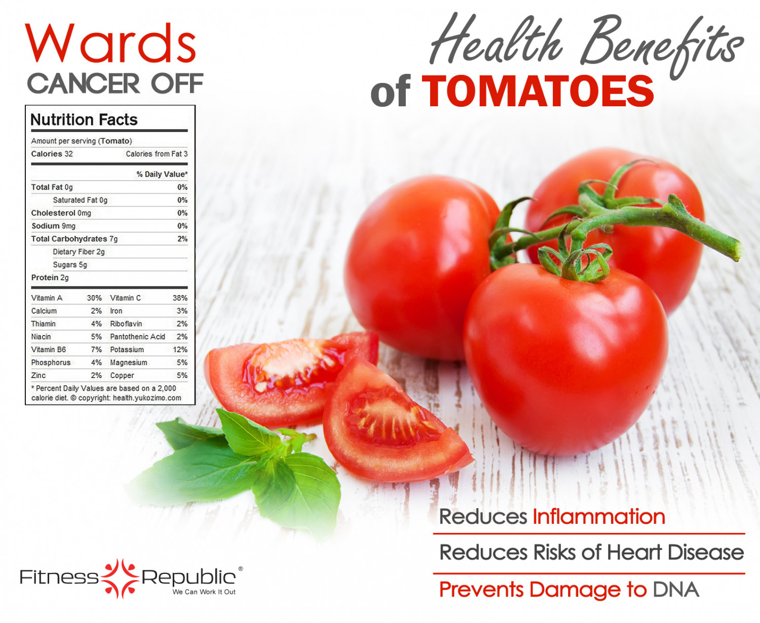 Health Benefits of Tomatoes Infographic