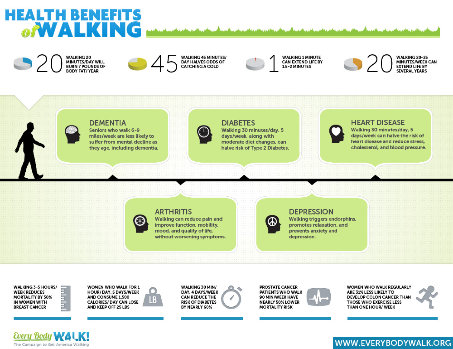 Health Benefits of Walking Infographic