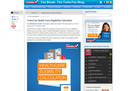 Health Care Eligibility Calculator Infographic