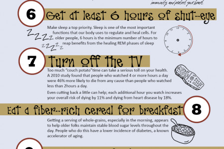 Healthy Tips for Living Longer Infographic