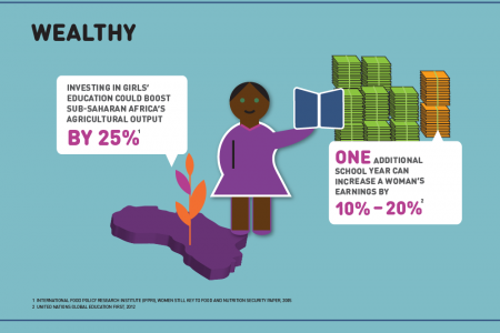 Healthy, Wealthy and Wise Girls Infographic