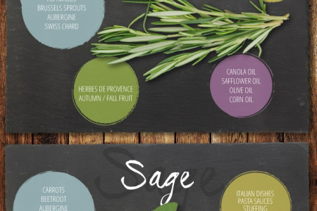 Herb Guide To Vegan Cooking Infographic
