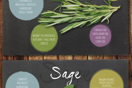 Herb guide to Vegetarian cooking Infographic