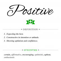 Here's What It Really Means To Be Positive, And How To Do It! Infographic