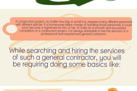 Hiring A Decent General Contractor Infographic