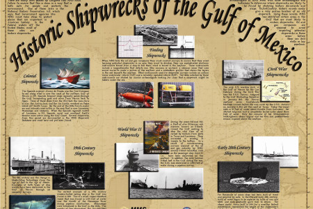 Historic Shipwrecks of the Gulf of Mexico Infographic