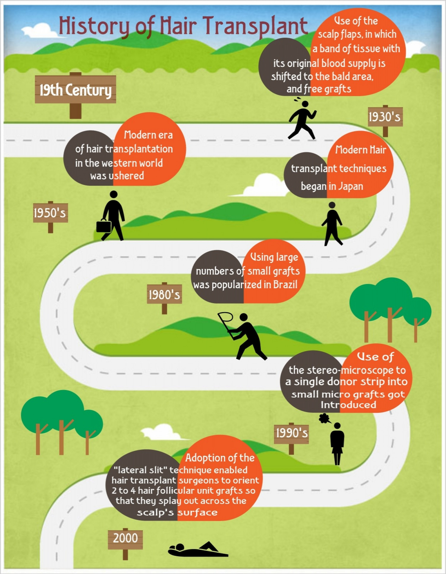 History of Hair Transplant Surgery Infographic