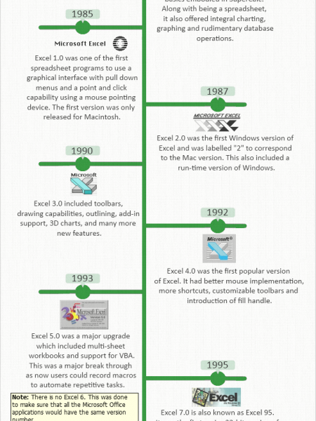 History Of Microsoft Excel Infographic