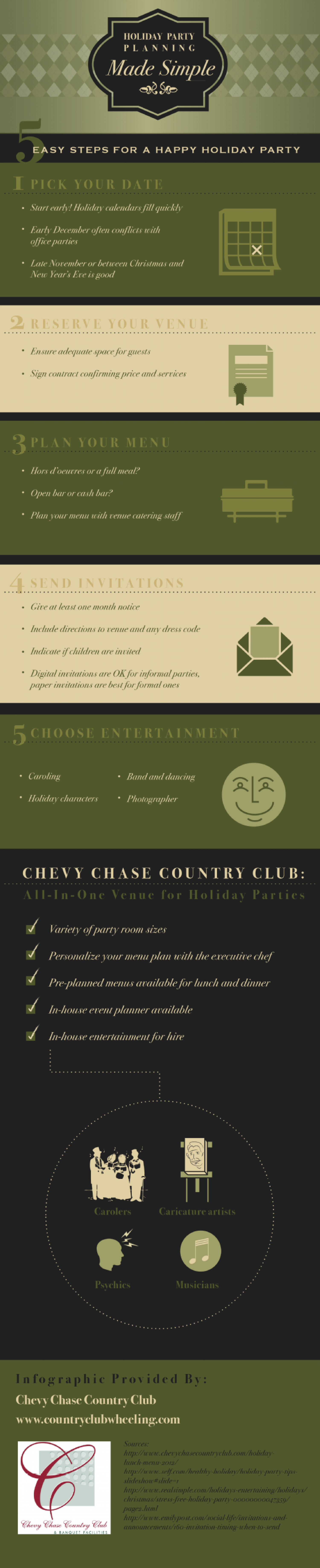 Holiday Party Planning Made Simple Infographic