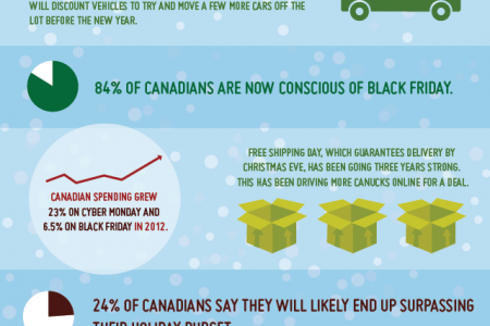 Holiday Shopping By the Numbers Infographic