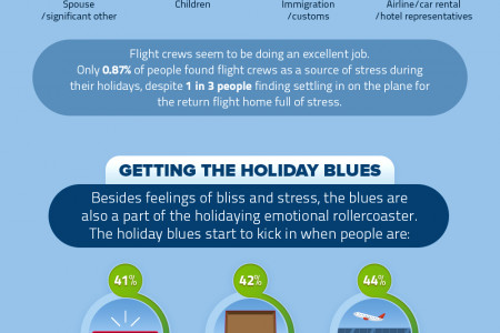 Holidays - Expectations vs. reality - infographic Infographic