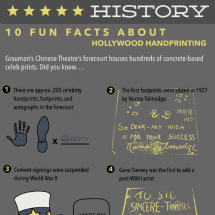 Hollywood Handprint History Infographic