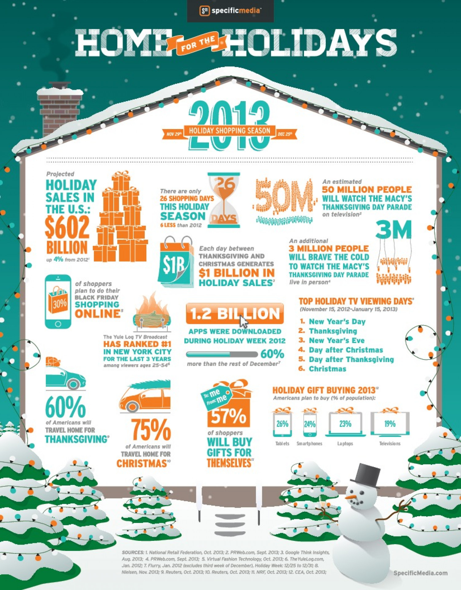 Home For The Holidays Infographic