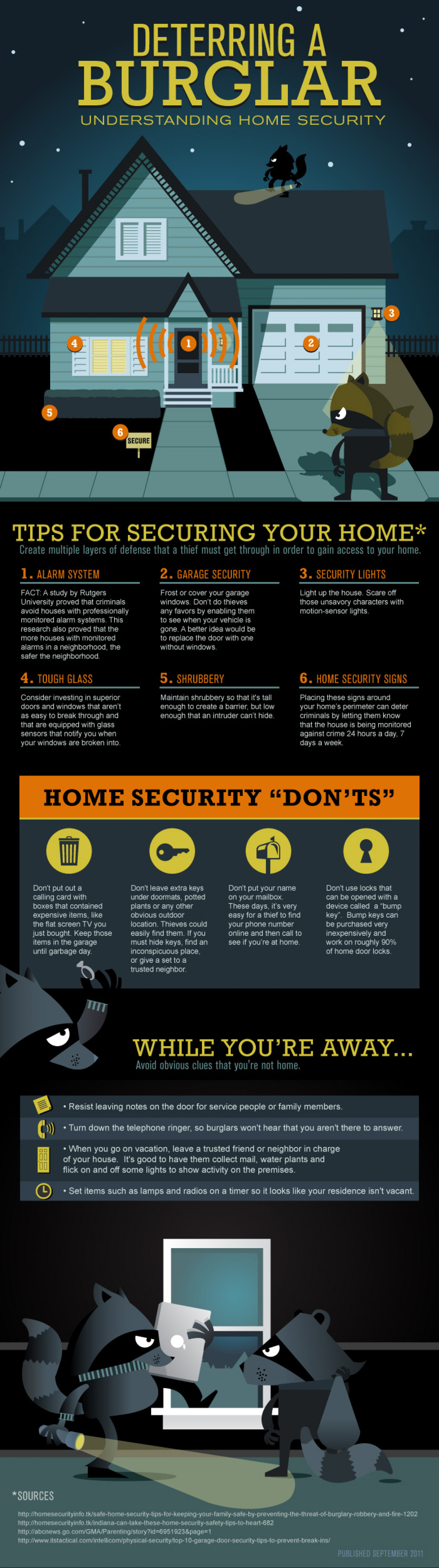 home security tips Infographic