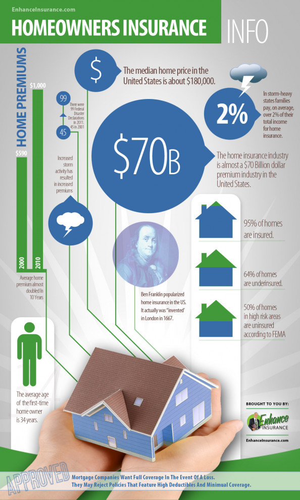 Homeowner's Insurance Facts & Statistics Inforgraphic Infographic