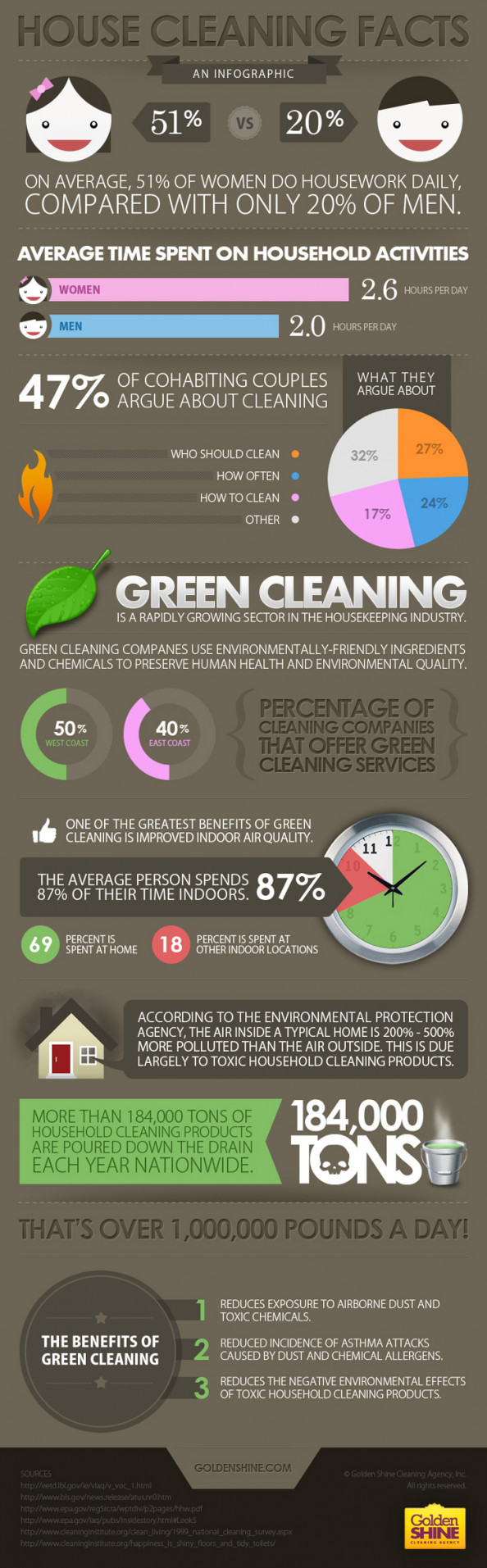 House Cleaning Facts Infographic