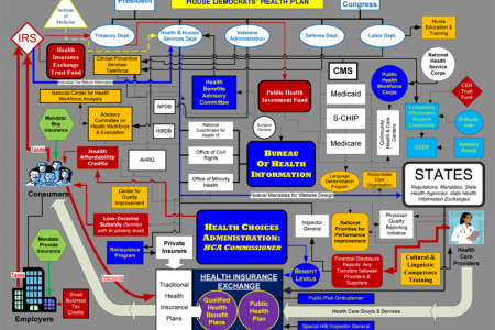 House Democrats' Health Plan Flow Chart Infographic