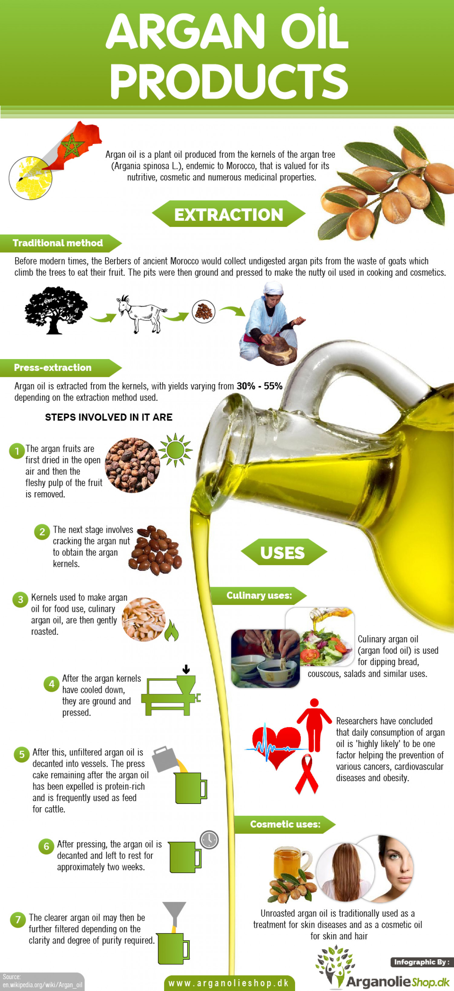 How argan oil is made Infographic