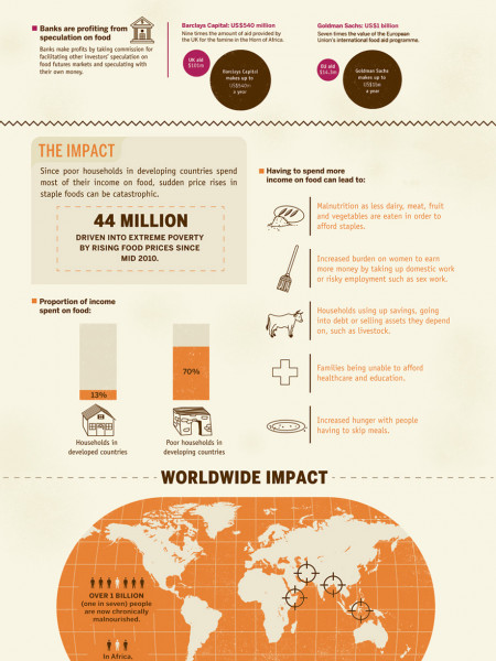 How Banks Cause Hunger Infographic