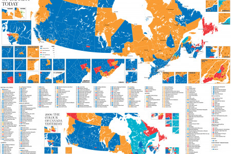 How Canada voted Infographic