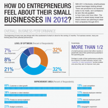 How do Entrepreneurs Feel About Their Small Businesses in 2012? Infographic