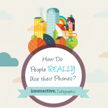 How do people really use their phones? Infographic