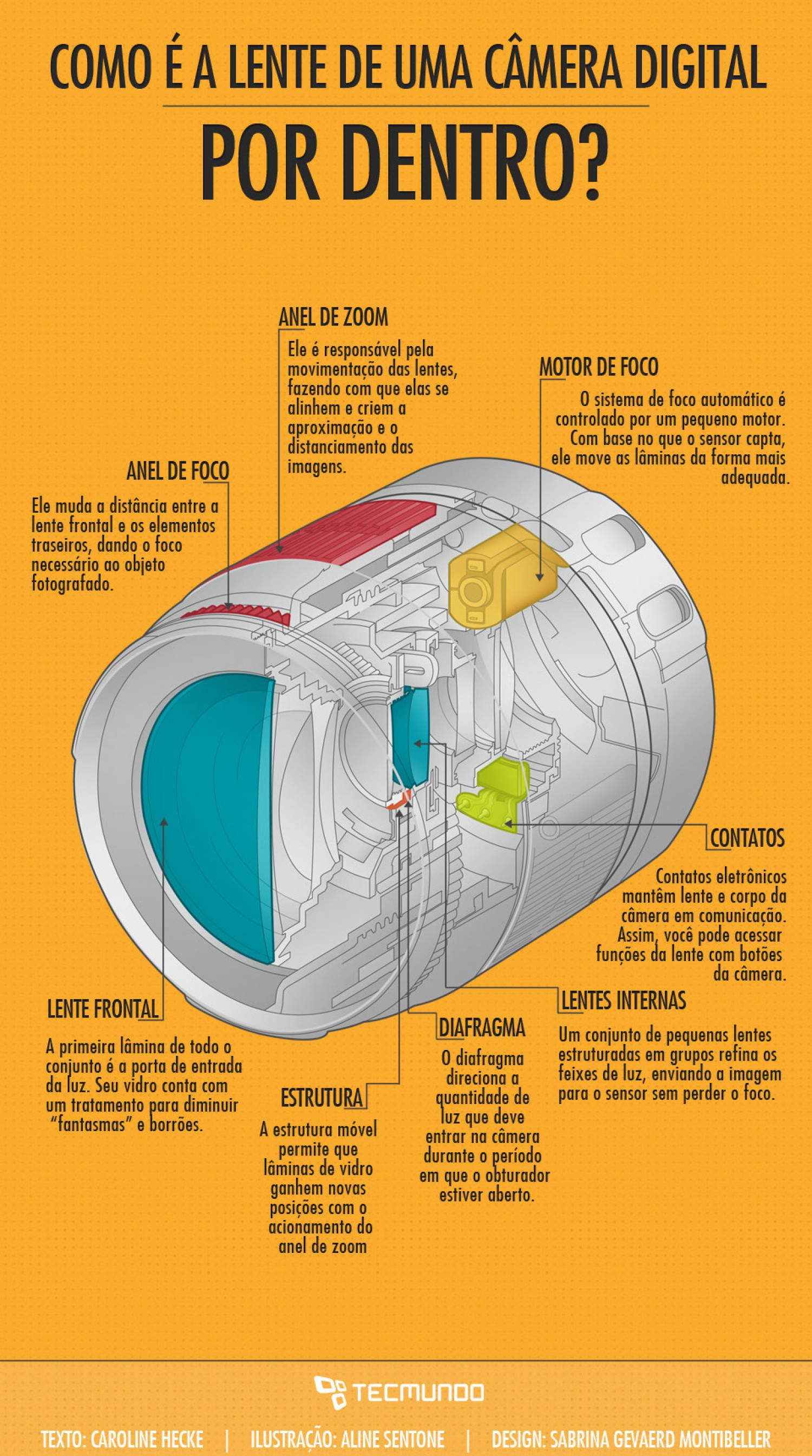 How does a camera lens looks like from the inside? Infographic