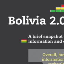 How does Bolivia compare with South America in its use of technology? Infographic