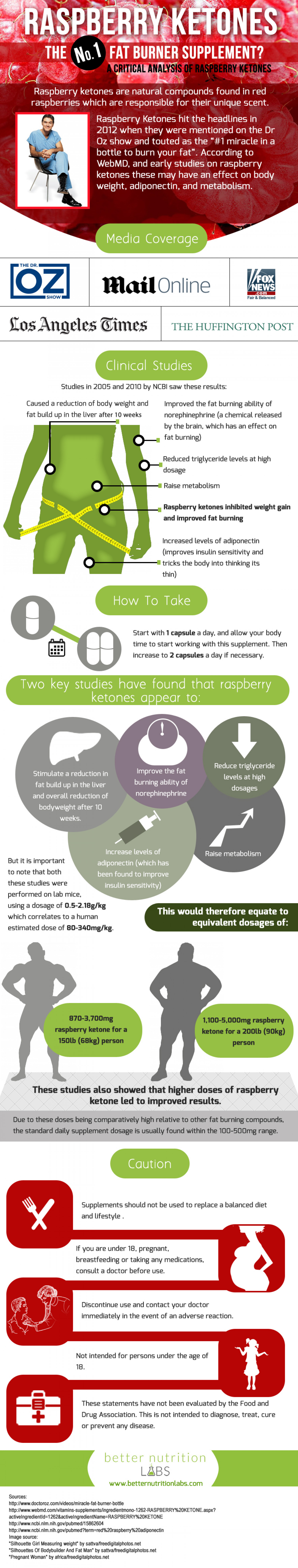 How effective is Raspberry Ketone for weight loss? Infographic