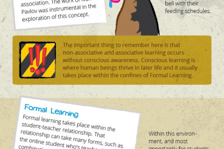 How humans learn Infographic