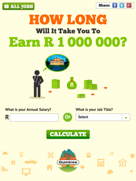 How Long Will It Take You To Earn R 1 000 000? Infographic