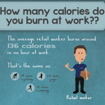 How many calories do you burn at work?? Infographic