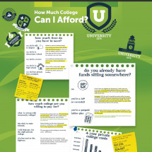 How Much College Can I Afford? Infographic