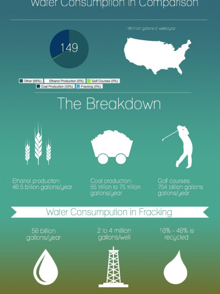 Water Consumption In Comparison Infographic