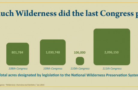 How much Wilderness did the last Congress protect?