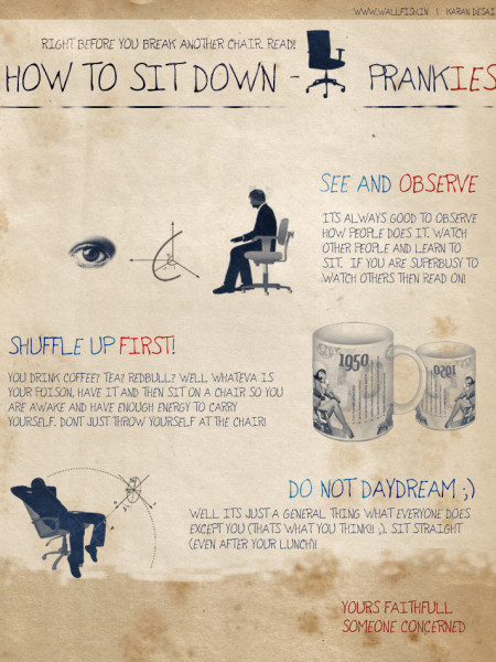 How Not To Break A Chair Infographic