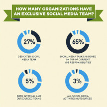 How Organizations Structure Social Media Teams  Infographic