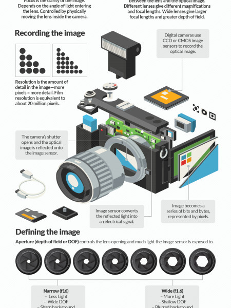 How Photography Actually Works Infographic