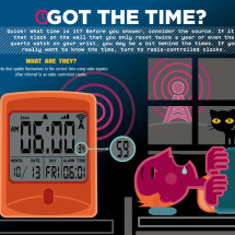 How Radio-Controlled Clocks Work Infographic
