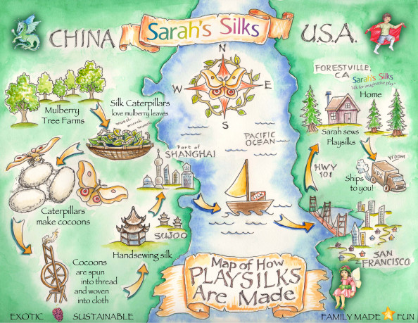 How Silk is Made Infographic