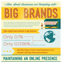 How Small Businesses are Competing with Big Brands Infographic
