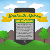How South Africans Use Cell Phones Infographic